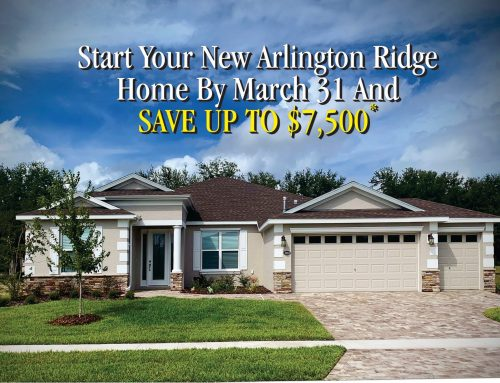 START YOUR HOME BEFORE MARCH 31 AND SAVE UP TO $7,500